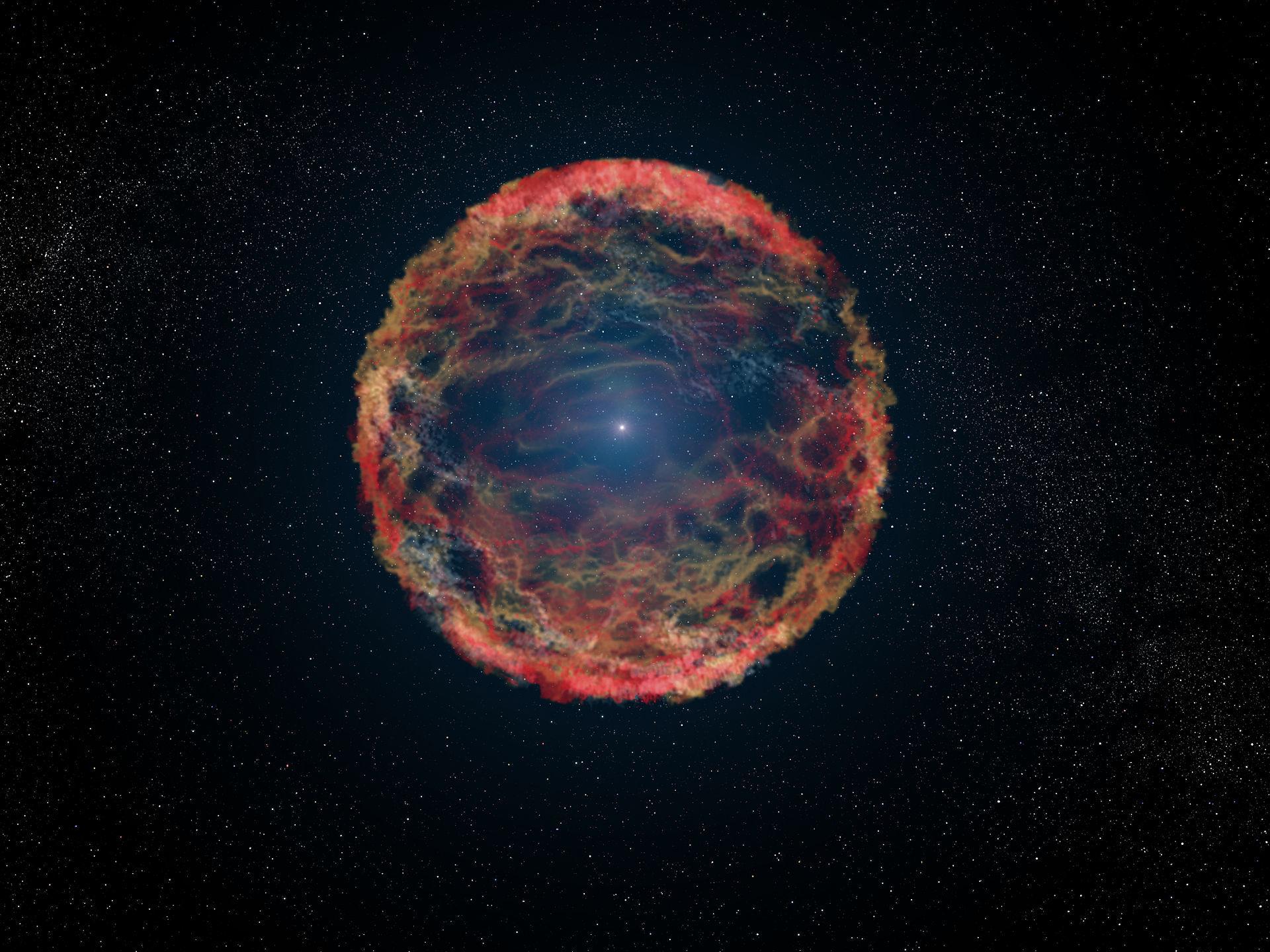 Обои огненный хвост, астероид, планеты. Космос foto 14