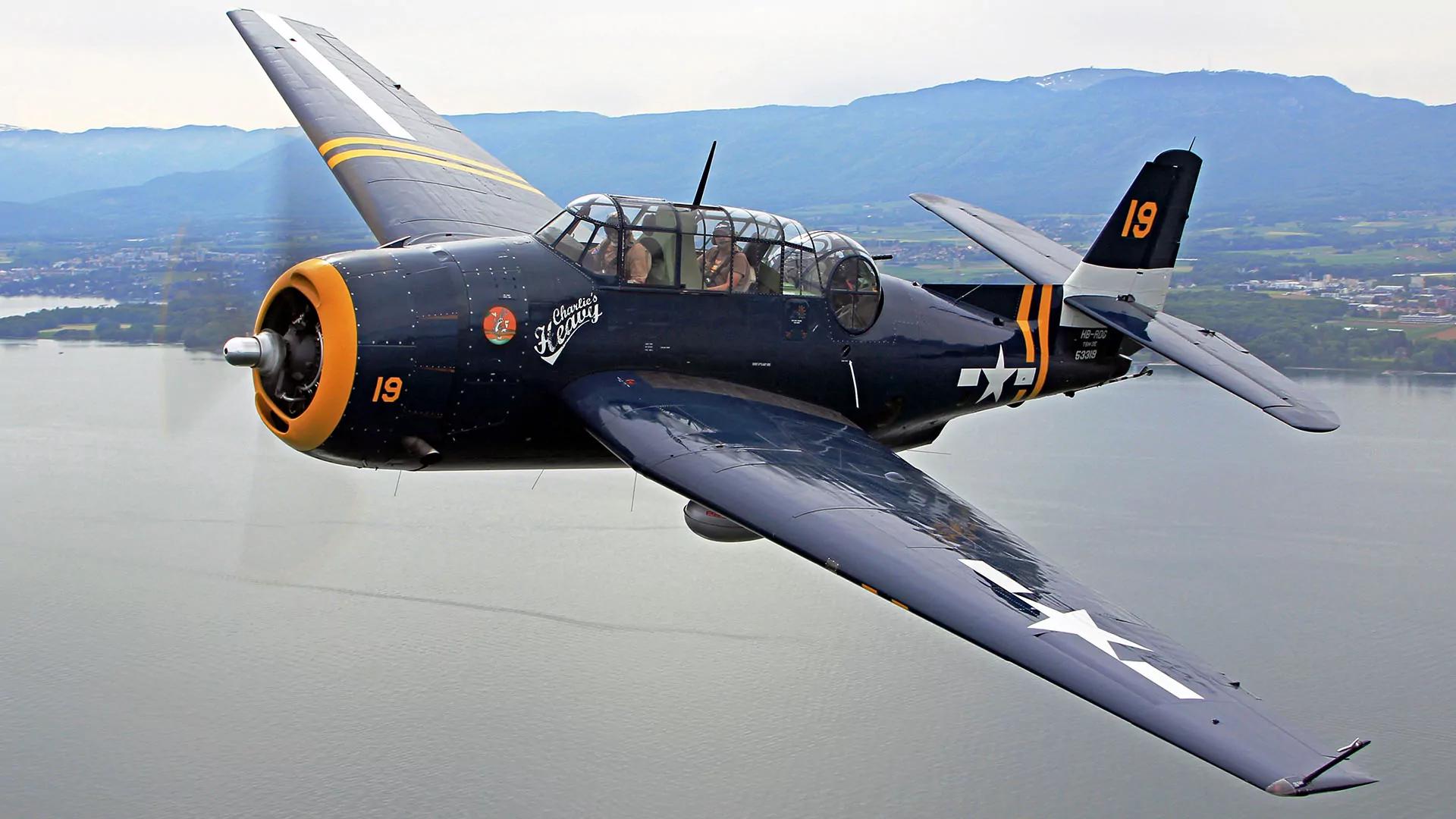 Обои истребитель, «корсар», Fg-1d, corsair. Авиация foto 4